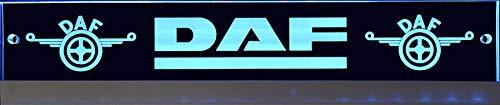 Schilderfeuerwehr Leuchtschild mit DAF-Logo, 60x10 cm ✓ Ideale Geschenkidee ✓ Lasergraviert | Edles LED-Schild als Truck-Accessoire | Beleuchtetes Scania Logo-Schild für den 12/24Volt-Anschluss |