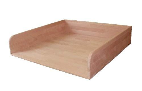 Großer Wickeltischaufsatz, 80x80cm, Buche geölt, Wickelaufsatz für Regal, Kommode oder Badewanne, echtes Holz