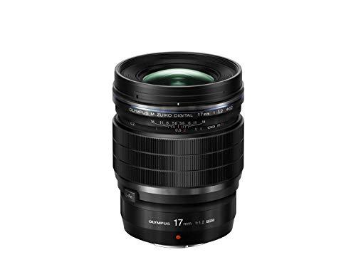 Olympus Objetivo M.Zuiko Digital ED 17mm F1.2 Pro, Longitud Focal Fija rápida, Apto para Todas Las cámaras MFT (Modelos Olympus OM-D & Pen, Serie G de Panasonic), Negro