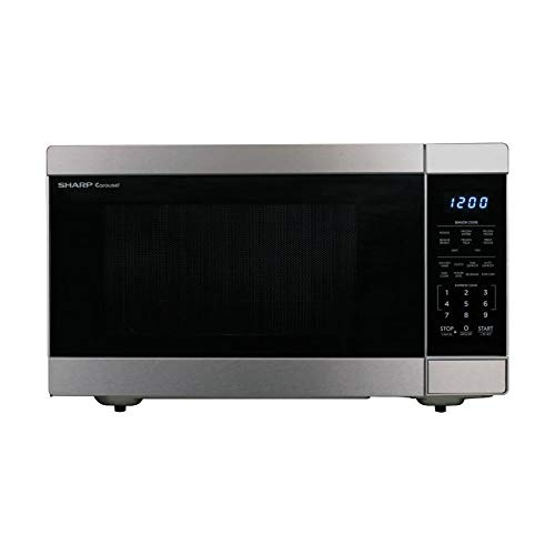 Sharp 1.6-cu ft 1100-Watt Countertop Microwave (Stainless Steel)