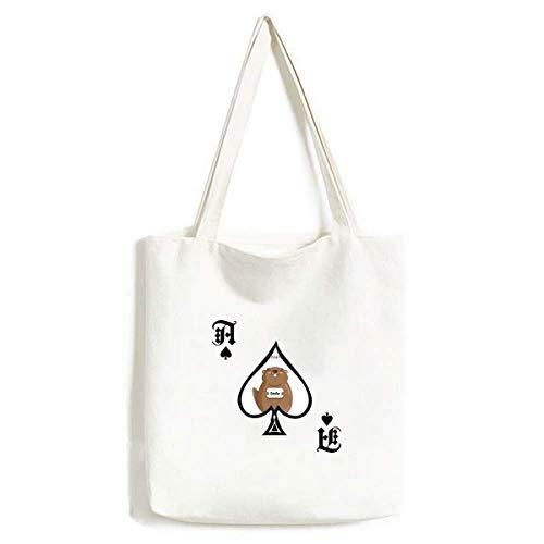 Happy Groundhog Day USA Amerika Kanada Festival Handtasche Craft Poker Spaten waschbare Tasche