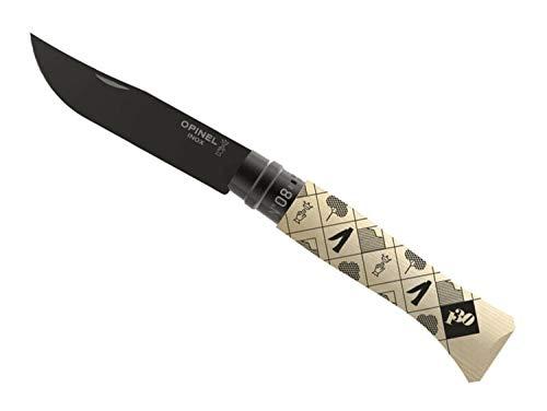 Opinel Unisex– Erwachsene No 08 Taschenmesser, Braun, 19,5cm