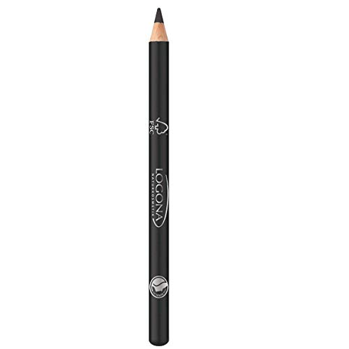 Logona - 1008cap01 - Maquillage des Yeux - Crayon à Paupières Kajal N° 01 - Deep Black - 1,14 g