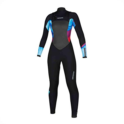 Mystic Watersports - Surf KiteSurf & Windsurfing Dames Diva 4/3 Double Chest Zip Wetsuit - Aurora - Thermal Warm Heat