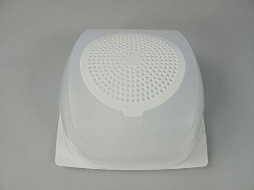 Tupperware A 205 Junior-KäseMaX Käseglocke, weiß transparent, L 20,5 x B20,5 x H 9,5 cm