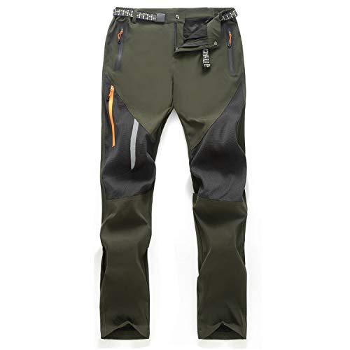 Freiesoldaten de Los Hombres Exterior Pantalones Ligeros Secado Rápido Senderismo Caza Pantalones de Pesca con Cinturón