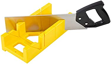 GreatNeck BSB14 12 Inch Mitre Box with 14 Inch Back Saw, Reinforced Steel Back Saw for Accurate Cutting, Preset 45 Degree and 90 Degree Cuts, Saw with Box