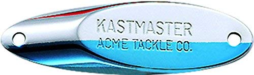 Acme Kastmaster Lure with Buck Tail Hook, Chartreuse Nickel Blue, 1-1/2-Ounce