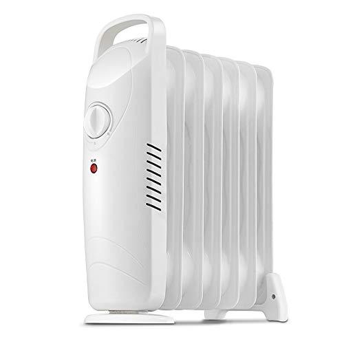 XKHG Heizkörper - 700W 7 Fin Portable Electric Slim Heater - Einstellbare Temperatur/Thermostat, Sicherheitsabschaltung
