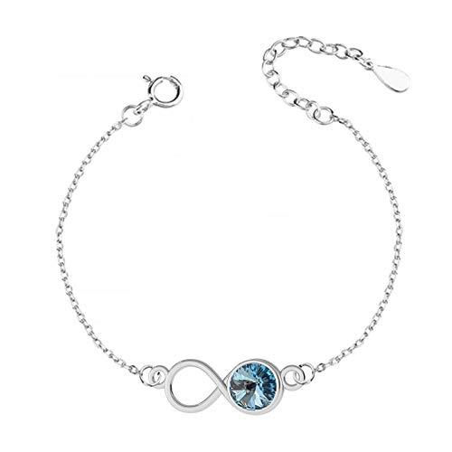 *Beforya Paris* Bracelet infini réglable *Aquamarine*...