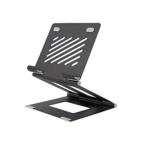 DPFXNN Soporte para Computadora Portátil, Soporte Vertical para Computadora Portátil, Soporte para Computadora Portátil Plegable Ajustable, Compatible con Más Tabletas 6.3x5.5x1.6in,Negro