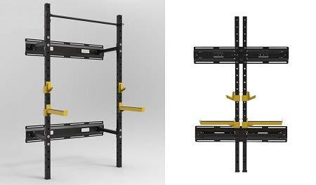 Grupo Contact Rack abatible Jaula Sentadillas (Uso Profesional) abatible Mod. TS108