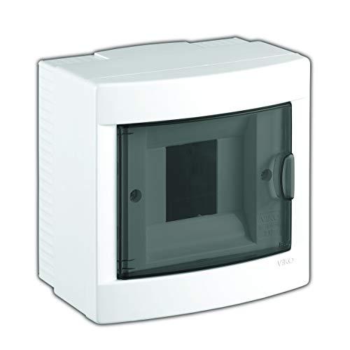 Aufputz Kleinverteiler 4 Module/Sicherungskasten / Verteilerkasten Aufputz IP40, 1-reihig mit Hutschiene