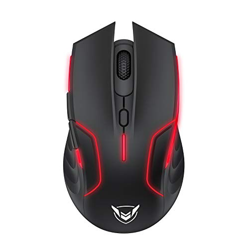 Wireless Mouse Gaming, PICTEK RGB Programmable Gaming Mouse Wireless with...