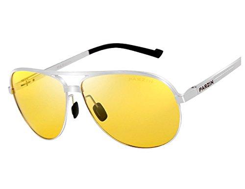 Telam Polarisierte Nachtsicht Brillen, Nachtsicht KFZ Treiber, HD Blendfreie Night Vision Brillen, Luftfahrt-Aluminium Magnesium Materialien.