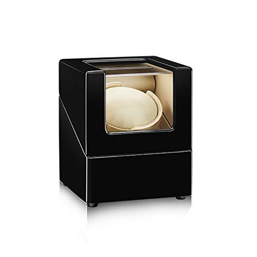 KHUY Cajas Relojes Automaticos Reloj Creative Binder Case Stretch Almohadilla, Caja Relojes Automaticos Caja Almacenamiento de Reloj Giratorio, Ca O Batería Super Silencioso Motor (Color : B)