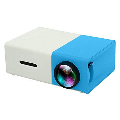 GAOYUAN Mini Proyector LED-Proyector Portátil de Alta Definición-Proyector de Películas de Dibujos Animados para Niños-Adecuado para Proyección de Películas de Cine en Casa con Interfaz