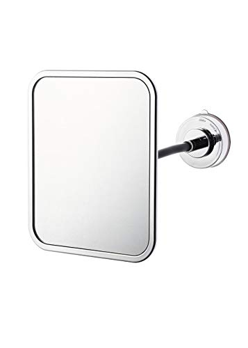 RIDDER Comfort Kosmetikspiegel mit Saugnapf, Edelstahl, Silber, ca. 150 x 230 x 130 mm