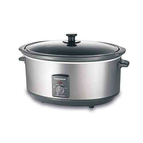 Morphy Richards Slow Cooker 6,5l Edelstahl deutsches Modell 48718EE
