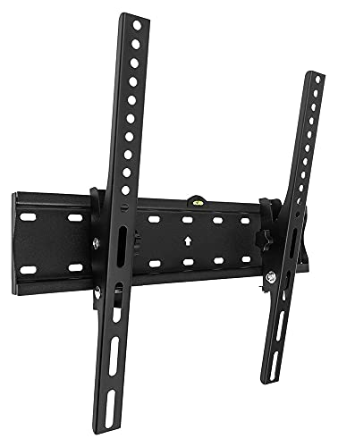 TabloKanvas Accesorios de Soporte de TV Slim Compact TELEVISOR Soporte de Pared para 26'a 55' LCD LED y televisores de Pantalla Plana de Plasma (Color : Black)