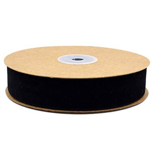 HEALLILY 1 Rouleau de Papier Cadeau Ruban Vêtements Ruban Tissu Ruban Bande pour Emballage Cadeau Décoration de Fête de Vacances Danniversaire (2. 5 Cm Noir)