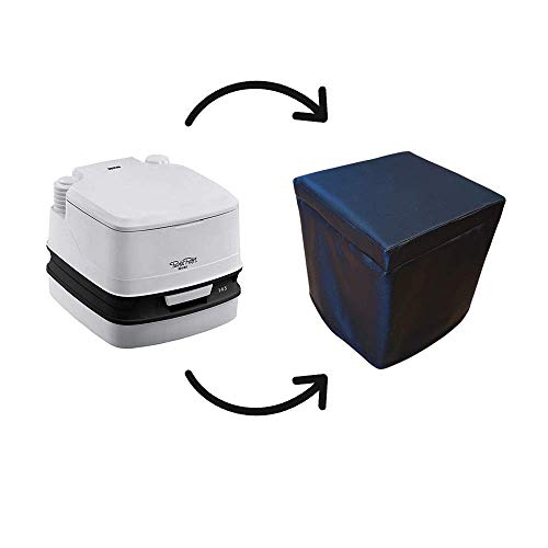 KFoam.es Funda Cubre Potti Polipiel Negro para Porta Potti 335 y Dometic 9L...