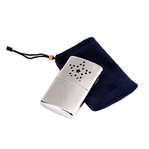Calentador De Mano, Calentador De Mano De Combustible Recargable, Bolsillo Portátil Mini Acero Inoxidable Calentador De Mano para Pesca para Acampar