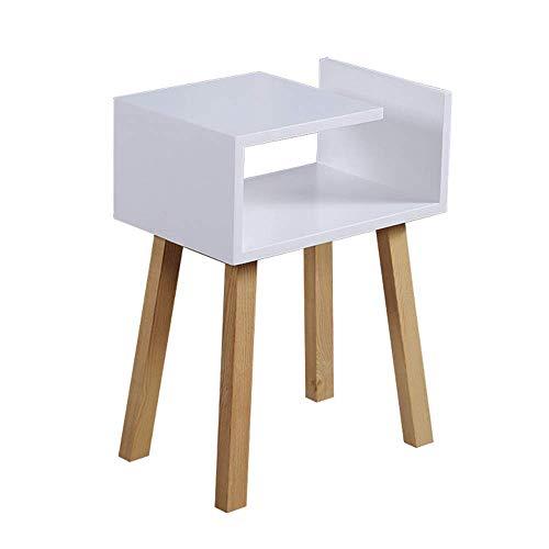 Carl Artbay Home & Selected Furniture/koffie/thee/fine/animatiehoeken/zijkanten/tafellamp van hout, voor binnen, wit buiten, 58 x 63 x 60 cm