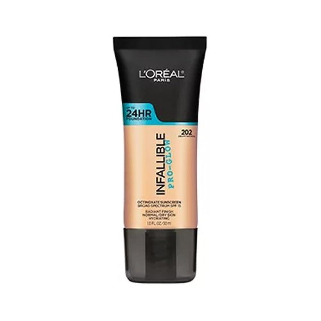 一定さまよう最初(3 Pack) L'OREAL Infallible Pro-Glow Foundation - Creamy Natural (並行輸入品)