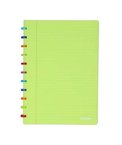 Tutti Frutti Atoma Notizbuch, A4, liniert, 144 Seiten bewegliche, Blau