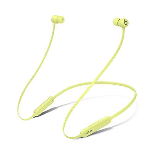 Auriculares inalámbricos BeatsFlex – Chip AppleW1, Auriculares magnéticos, Bluetooth de Clase1, 12Horas de Sonido ininterrumpido - Amarillo