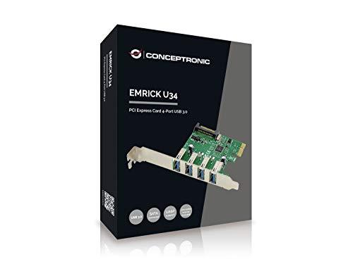 Conceptronic Emrick U34 - Tarjeta PCI Express (4 Puertos USB 3.0)