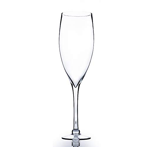WGV Champagne Glass Vase, Width 7', Height 24', (Multiple Sizes Choices) Clear Stemmed Red Wine Planter Floral Container, Wedding Centerpiece, Event Home Decor, 1 Piece (VWV0624)