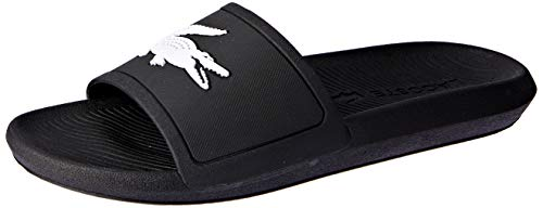 Lacoste Damen Croco Slide 119 3 CFA Sandalen, Black/White, 38 EU