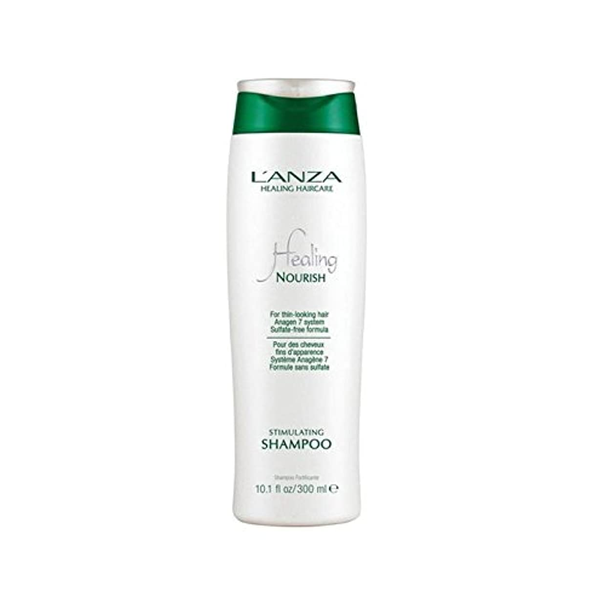 降ろす活力オプションアンザ治癒はシャンプーを刺激養う(300ミリリットル) x4 - L'Anza Healing Nourish Stimulating Shampoo (300ml) (Pack of 4) [並行輸入品]
