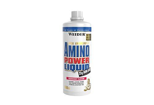 WEIDERAmino Power Liquid, Cranberry, Flüssiges Hydrolysiertes Protein + Aminosäuren, 1 Liter
