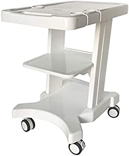 INTBUYING Portable Ultrasound Cart Mobile Trolley with Probe Holder for Fetal Machine Scanner