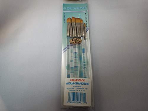 Aqualon Royal and Langnickel Short Handle Paint Brush Set, Shader, 6-Piece