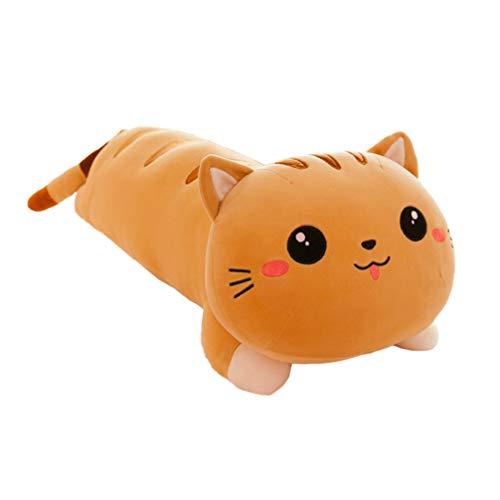 GARNECK Juguete de Felpa Muñeca de Gato Almohada de Gatito de Peluche de Juguete de Peluche Almohada de Abrazo Almohada de Tiro 50Cm