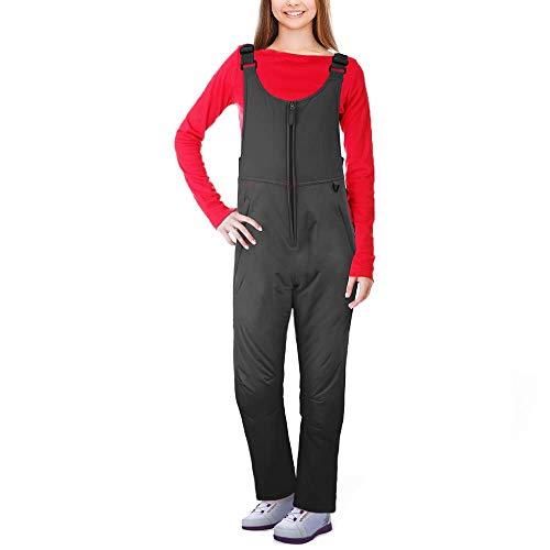 Ohuhu Women's Essential Insulated Bib Overalls, Snow Ski Bibs Pants, M