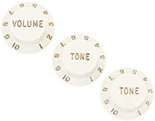 Fender Stratocaster Parchment Knobs - Volume, Tone, Tone (Set of 3)