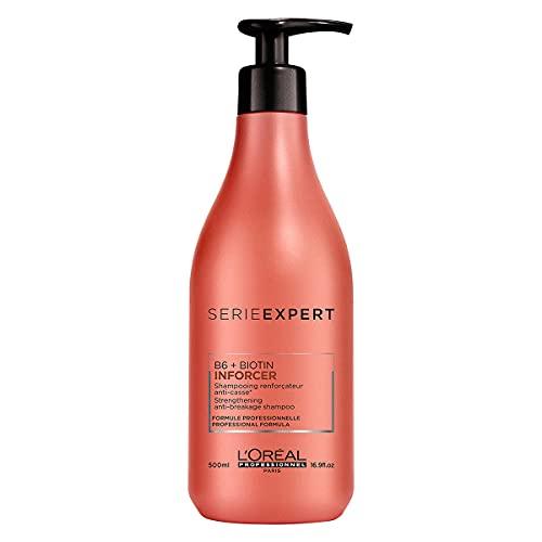 L'Oréal Professionnel Paris Serie Expert Inforcer Shampoo, Anti-Haarbruch Shampoo, kräftigendes Haarshampoo mit Biotin, stärkt die Haarfasern, Haarpflege für strapaziertes und sprödes Haar, 500 ml