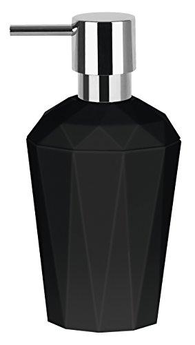 Price comparison product image Spirella Crystal Black Soap Dispenser,  H: 17cm x W: 8.5cm