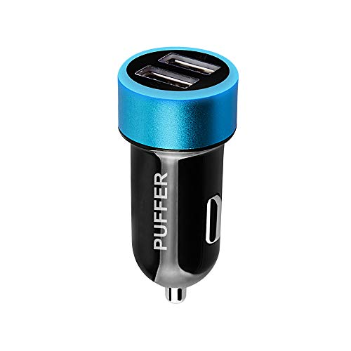 Kfz-Adapter, 2 USB-Anschlüsse, für Handy, iPad, iPhone, iPod, Samsung, HTC, Blackberry, MP3-Player, Digitalkameras, PDAs, Apple, Android, Tablets, E-Zigaretten, E-Shisha