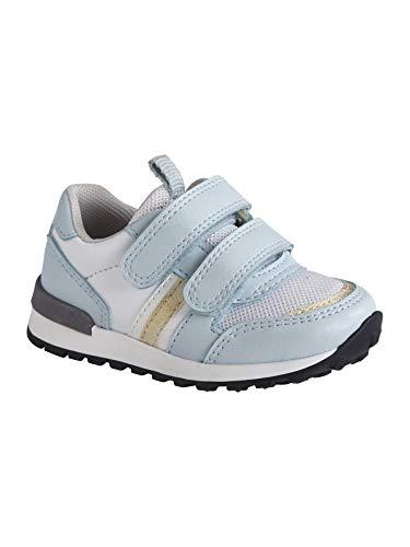 Vertbaudet Sneakers für Baby Mädchen, Klettriegel hellblau 22