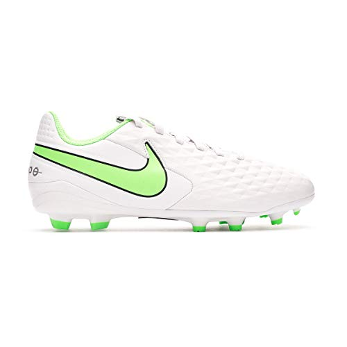 Nike JR Legend 8 Academy FG/MG, Zapatillas de ftbol, Platinum Tint Rage Green Black, 36 EU