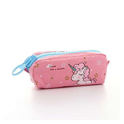 Stationery LMH - Estuche para lápices con cremallera grande para perro Shiba, diseño de unicornio, gran capacidad, bolsa para lápices, papelería, regalo de suministros escolares (color: 6)