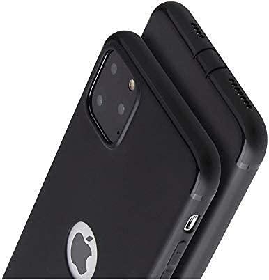 PfX Schwarz Matte Hülle 2.0 geeignet für iPhone 12/12 Pro mit integriertem Staubschutz & Logo-Aussparung - Silikonhülle 2.0 Edition - Verbesserte Version 2020 - (iPhone 12/12 Pro)