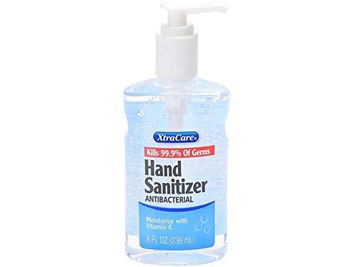 XtraCare Liquid Antibacterial Hand Sanitizer, Alcohol-Based with Vitamin E Moisturizer, 8oz Full Size Bottle