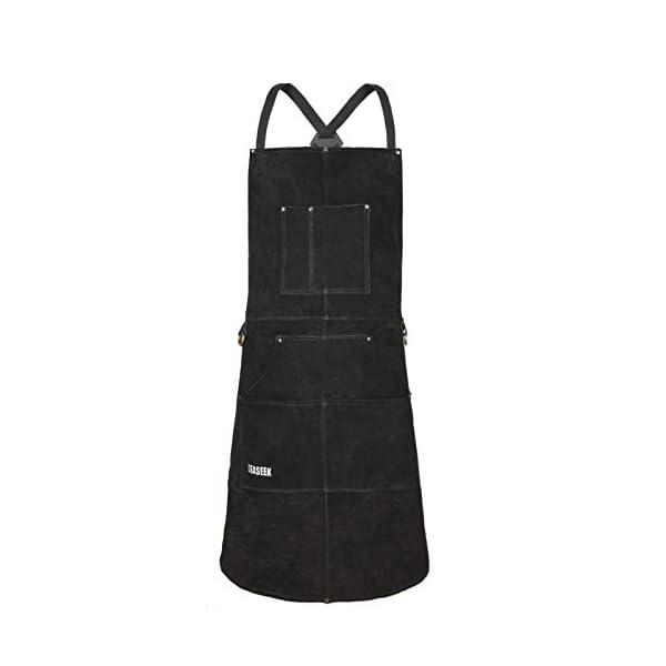 LeaSeek Heavy Duty Leather Welding Apron 1